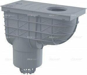 Alcaplast ALCA PLAST Wpust deszczowy uniwersalny 300 × 155/125 dolny, szary AGV2