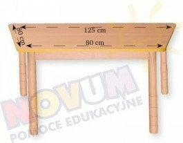 Novum Stół z dokrętkami prostymi - trapezowy