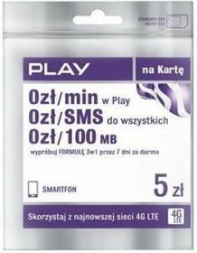 Formuła Play na Kartę 5 zł