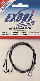 Exori Fishing Przypon kewlarowy 70cm z Haczykiem 1/0, 10kg