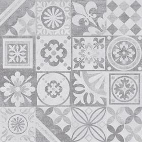 Ceramika Limone Estra Dekor 60x60 Szary Grafit Półpoler