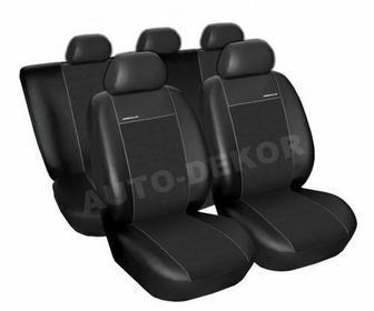 Auto-Dekor Skórzane pokrowce samochodowe miarowe PREMIUM CZARNE Audi A4 B5 Kombi