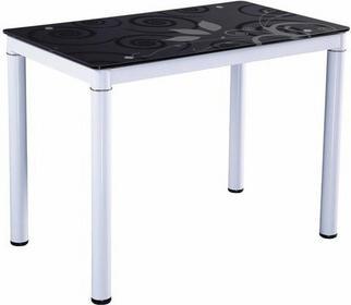Signal Stół DAMAR 100x60 biały/czarny