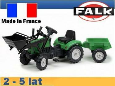 Falk Traktor Lander z ładowaczem i przyczepą FA2031CM