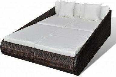 Leżak, łóżko do opalania dwuosobowe (200 x 142 x 59 cm)