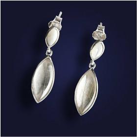 AnKa Biżuteria Modne kolczyki srebrne z kryształem górskim. - kamieniem wróżek