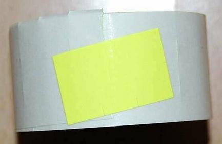 Rolka do metkownicy dwurzędowej - 2,6x1,6cm żółta prosta 00428