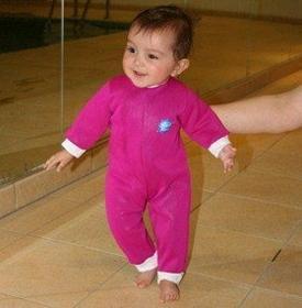 Splash About Dziecięcy strój pływacki / kombinezon Warm-in-One - różowy