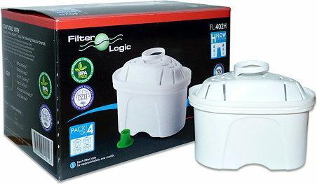 Filter Logic Filtr wody do dzbanków FL402H - kompatybilny z Brita Maxtra - 4 szt.
