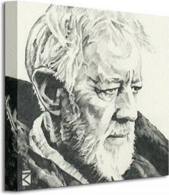 Star Wars Obi-Wan Kenobi Sketch - Obraz na płótnie