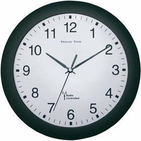 Zegar ścienny analogowy radiowy 30 cm x 4 5 cm czarny
