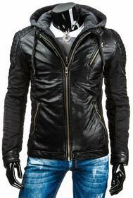 czarna kurtka męska przejściowa (tx0911)