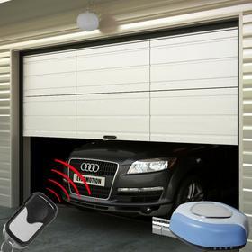 vidaXL Drzwi garażowe, z dwoma pilotami
