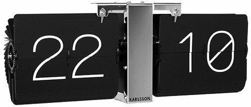 Karlsson Zegar stołowo/ścienny Flip No Case black by KA5601BK