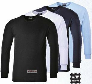 Portwest B123 - koszulka ocieplająca z długim rękawem 4 kolory - XS-5XL.