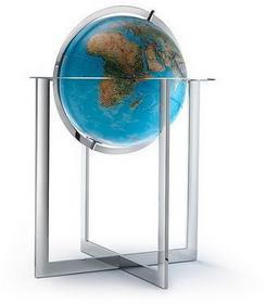 Steel Blue globus 50cm
