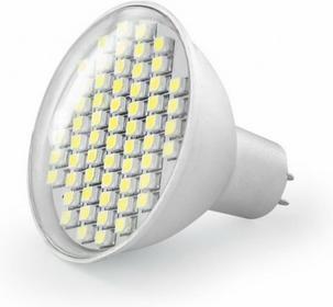 Whitenergy Żarówka LED Reflektor 60xSMD-szkło 3528 3W GU5.3 230V ciepła barwa 04921