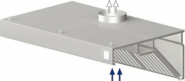 Stalgast Okap przyścienny skośny 2600x1200x450 mm 9820812260