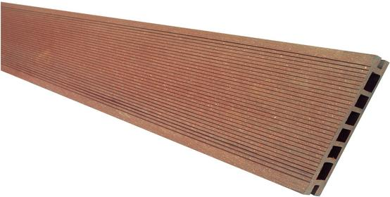 Deska tarasowa VIVA - kompozytowa ryflowana szlifowanana 24x145x2400mm Jasny Brą