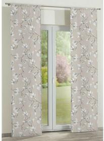 Dekoria Panel 2 szt. Flowers/Luna magnolie na beżowym tle