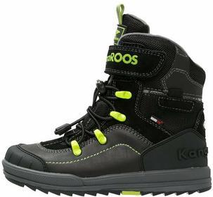 KangaROOS ADRIAN Śniegowce black/lime 1351A