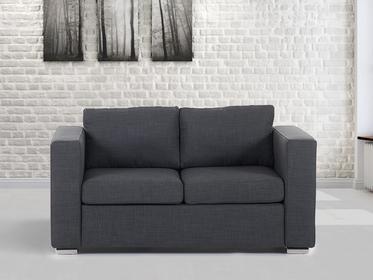 Beliani Sofa ciemnoszara - dwuosobowa - Kanapa - sofa tapicerowana - HELSINKI ci