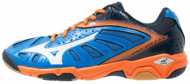 Mizuno WAVE VOLCANO Buty do piłki ręcznej directoire blue/white/vibrant orange