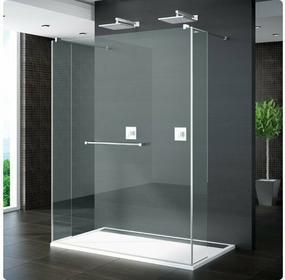 Sanswiss Ronal / Ronal Pur Ścianka prysznicowa stała z dwoma krótkimi ściankami