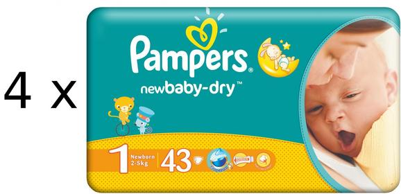 Pampers New Baby 1 Newborn 172 szt.