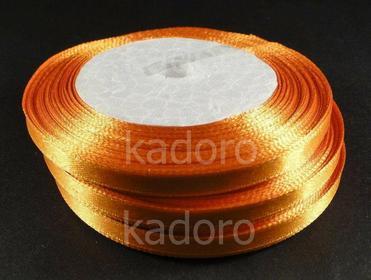 Wstążka atłasowa 6 mm pomarańczowa - rolka