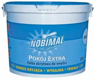 Nobimal Kabe Farba akrylowa Pokój Extra 10L Biała