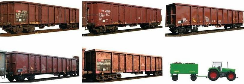 MiniTrix Wagon towarowy T15990 wysokościenny EANOS transport złomu z DB AG skala