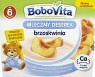 Bobovita MLECZNY DESEREK BRZOSKWINIA 4x100G