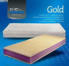 Materac piankowy 7 strefowy - GOLD TERMOELASTYCZNA 24adormo-GOLD
