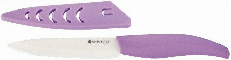 Ambition ceramiczne Nóż pojedynczy kuchenny Fusion Plum 10 cm fioletowy
