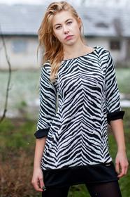 SILLESIA Sukienka STELLA modna zebra 1169813
