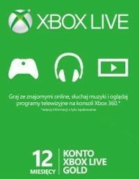 Microsoft DIGITAL XBOX Live - abonament na 12 miesięcy (klucz XBOX LIVE)