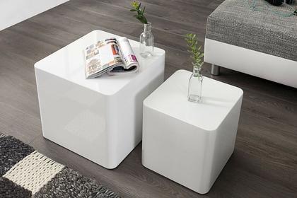 Interior Stolik Monobloc biały (zestaw dwóch)