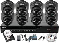 BCS Zestaw do monitoringu 8x Kamera FullHD z IR do 30m
