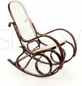 Calviano Fotel bujany wyplatany RAFIA - Ciemne drewno - RAFIA