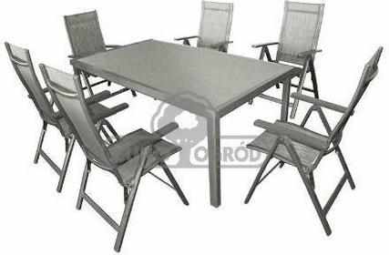 Hecht Meble Ogrodowe Stone Set Stół + 6 Krzeseł 8595614901772