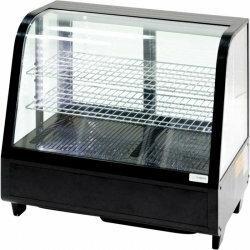 Stalgast Witryna ekspozycyjna 100 l czarna oświetlenie led / 852104