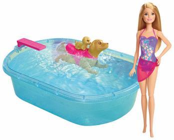 Mattel Lalka i pływający piesek DMC32