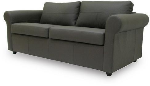 Klasyk Sofa rozkładana - skóra ciemny brąz - dom - biuro SAN2PLNCHOC