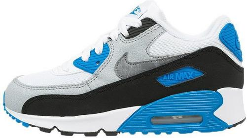 Nike Sportswear AIR MAX 90 Tenisówki i Trampki white/cool grey/photo blue/black