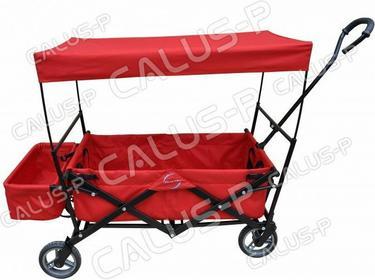 Wózek Czerwony Piknikowy,ogrodowy- składany