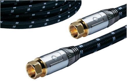 Kabel antenowy koncentrycznyOehlbach 22625 [1x Złącze męskie F - 1x Złącze męski