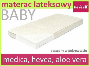 Hevea Dzieciecy Materac lateksowy Baby 60x120