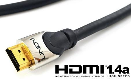 Lindy Kabel HDMI-HDMI 1.4a High Speed Cat2 Ethernet, 3D 41401 -1 m