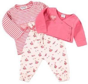 Dirkje Girls Baby Komplet 3-częściowy cherise 31T-18282H_1